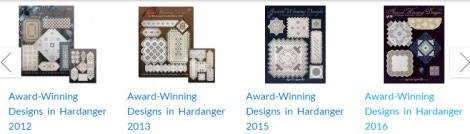 four hardanger pattern books