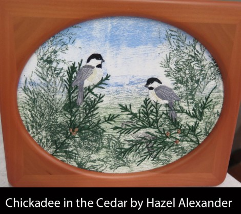 Chickadee-in-the-Cedar-by-Hazel-Alexander-2017_W