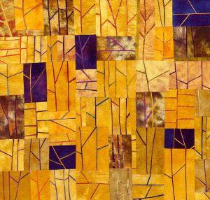 colourful patchwork artwork