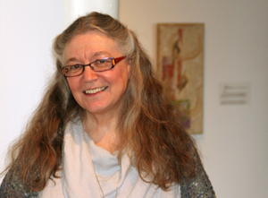 Artist photo - Hilary Rice (with artwork)
