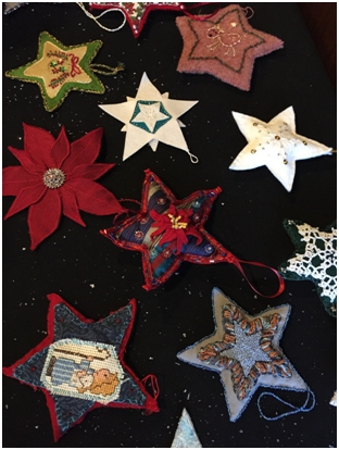 star-shaped tree ornaments