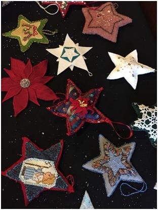 star-shaped tree ornaments