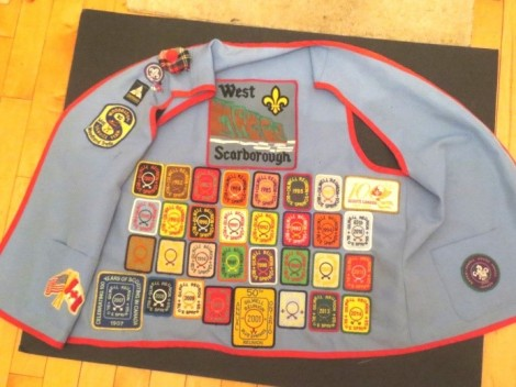 scout vest with badges