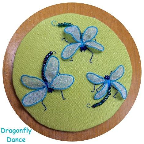 3 fantasy dragonflies