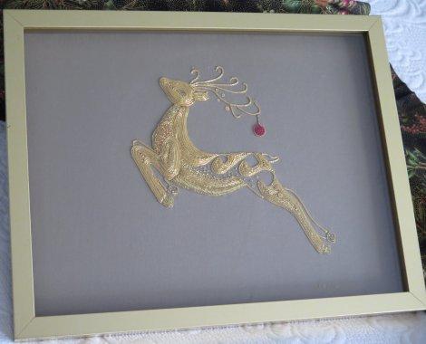 goldwork reindeer