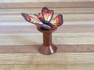 3D stitched butterfly on spool