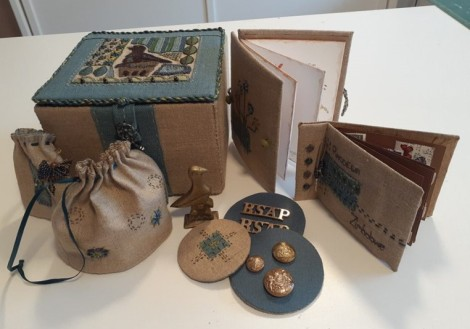 fabric box and accompanying accessories