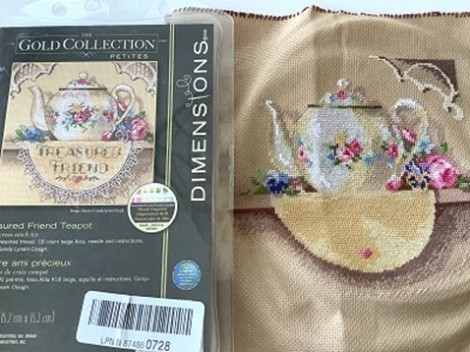 needlework kit, completed