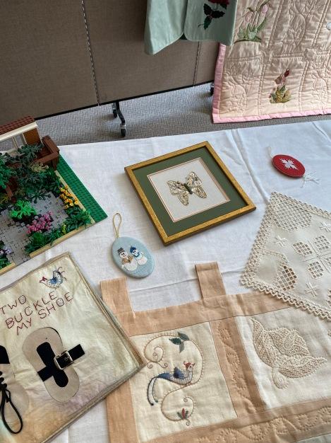 hardanger, goldwork, embroidery