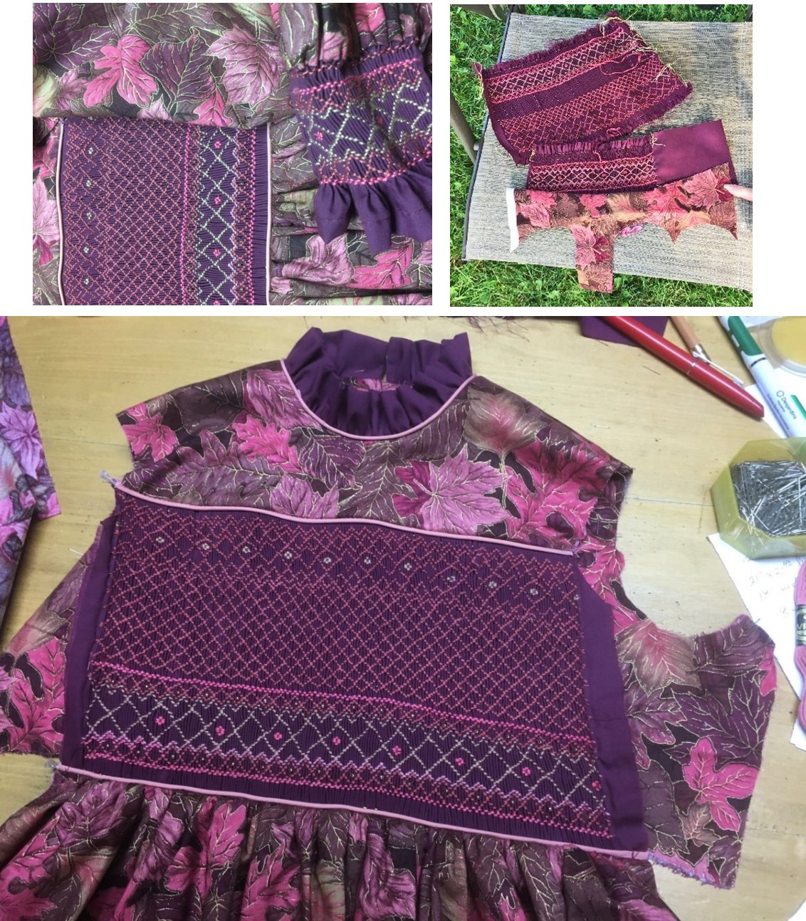 smocked dress components